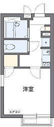 Waganse A[1階]の間取り