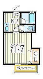 おおたかの森アパート[2階]の間取り