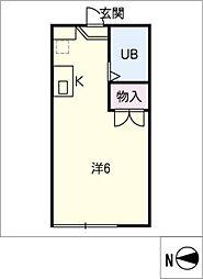 UCAN Kamiotai[1階]の間取り