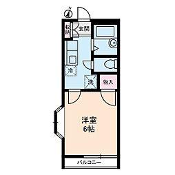 アリス生田[2階]の間取り