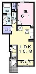 小田急江ノ島線 湘南台駅 バス7分 寿照寺前下車 徒歩7分の賃貸アパート 1階1LDKの間取り