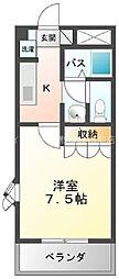 岡山県総社市中原丁目なしの賃貸マンションの間取り