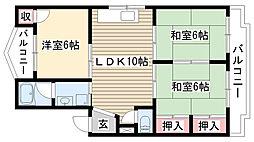 愛知県名古屋市守山区元郷1丁目の賃貸マンションの間取り