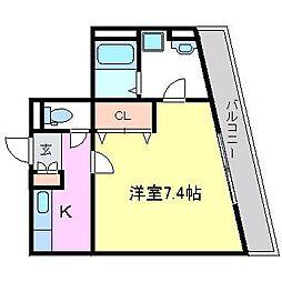 サクセス武庫川[4階]の間取り