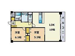 六本松ハウス[3階]の間取り