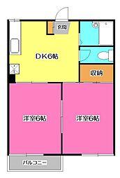 ウララハイム[2階]の間取り