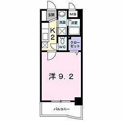 アビタシオン花の樹[3階]の間取り