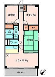 トーケンハイム西台[1階]の間取り