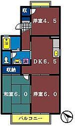 クレールハイツ鷺沼[1階]の間取り