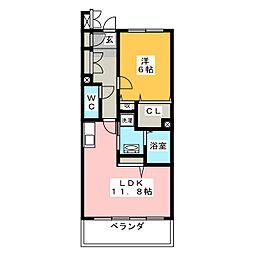 ペディオン[2階]の間取り