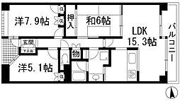 パークハイム池田ヒルズガーデン[1階]の間取り
