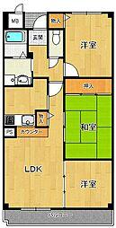 アンジュ東甲子園[802号室]の間取り