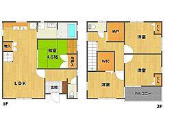[一戸建] 兵庫県伊丹市中野西2丁目 の賃貸【/】の間取り