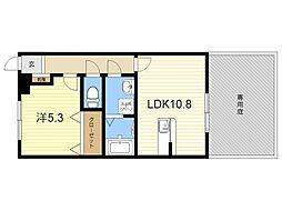 JR日豊本線 隼人駅 徒歩28分の賃貸マンション 1階1LDKの間取り