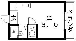メトロ沢之町[8階]の間取り