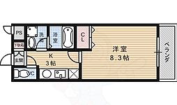京阪本線 龍谷大前深草駅 徒歩6分の賃貸アパート 2階1Kの間取り