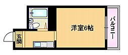 大阪府大阪市都島区内代町2丁目の賃貸マンションの間取り