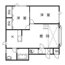 シンフォニー永山B[2階]の間取り