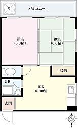 八千代マンション[3階]の間取り