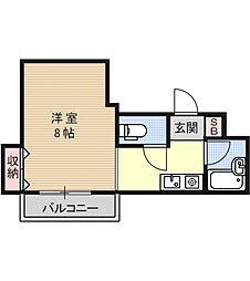 シングルハウスアトラクター[302号室号室]の間取り