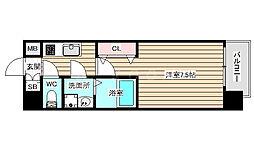 S-RESIDENCE福島grande 3階1Kの間取り