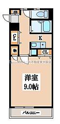 ザ・タワーハウス[4階]の間取り