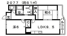 シャトー実樹[303号室号室]の間取り