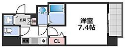 エグゼ堺筋本町 13階1Kの間取り