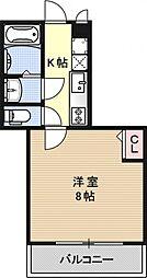 AQUA KM[406号室号室]の間取り