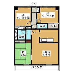 ソシア竜南[3階]の間取り