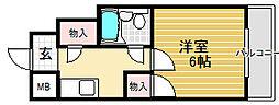 プレアール堺東[3階]の間取り