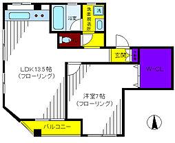 親松ビル[4階]の間取り