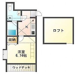 カスティーロ武蔵小金井[1階]の間取り