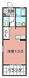 ボヌール祇園[101号室]の間取り