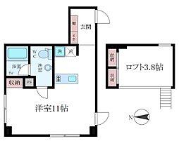 東京都江東区清澄2丁目の賃貸マンションの間取り