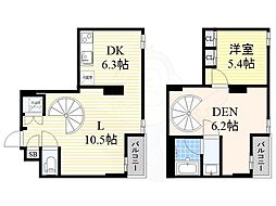 JR関西本線 JR難波駅 徒歩7分の賃貸マンション 6階1SLDKの間取り