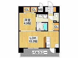 ミリオンコンフォート新今里[3階]の間取り