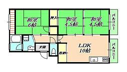 桃山台ハイツ[4階]の間取り