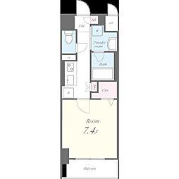 名古屋市営東山線 池下駅 徒歩9分の賃貸マンション 4階1Kの間取り
