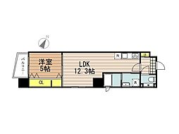 JR京浜東北・根岸線 さいたま新都心駅 徒歩10分の賃貸マンション 9階1LDKの間取り
