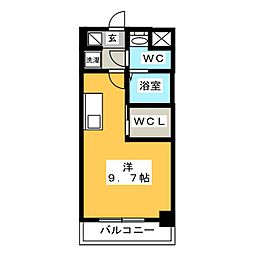 S-RESIDENCE東日暮里 9階ワンルームの間取り