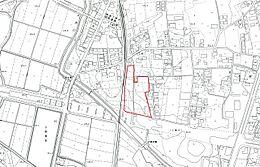 現地案内図 JR水郡線下菅谷駅まで徒歩約7分でアクセス良好です