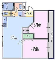 プチメゾン二階堂[105号室]の間取り