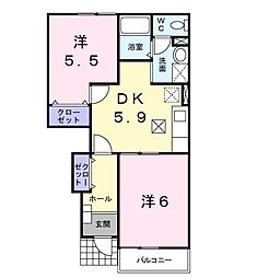 サンヒルズ3[1階]の間取り
