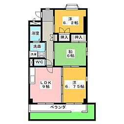 ソレアード81B[1階]の間取り