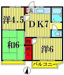 コーポ和田[205号室]の間取り