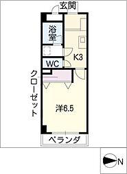 ビューラー長尾II[4階]の間取り