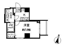 都営三田線 水道橋駅 徒歩6分の賃貸マンション 2階1Kの間取り