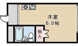 スタジオ32[406号室]の間取り