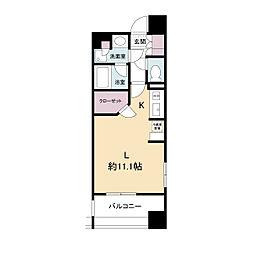 アパートメンツ江坂(旧パークアクシス江坂豊津町)[0510号室]の間取り